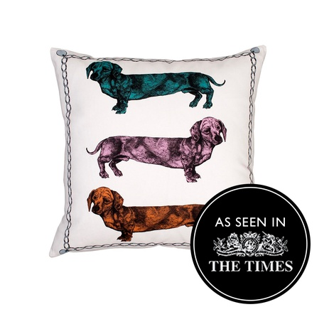 Dachshund Cushion - Trip Tych