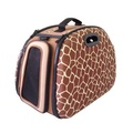 Collapsible Carrier Deluxe - Giraffe Print