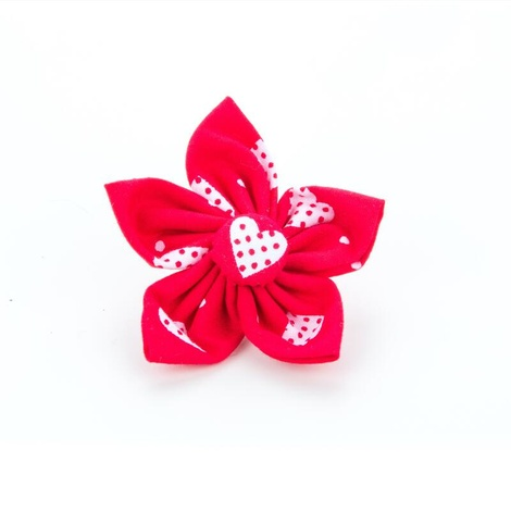 Patchwork Love Hearts Flower Collar Accessory