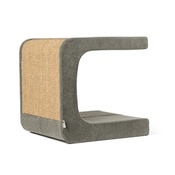 Catworks - Scratching Post - Letter C - Grey