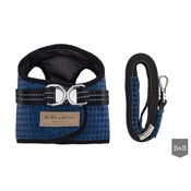 Bowl&Bone Republic - Soho Harness & Lead Set - Navy