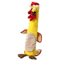 Turkey & Stuffing Dog Toy with Rope Stick