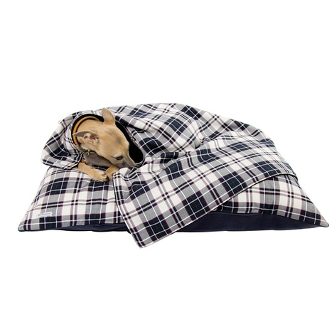 McNulty Personalised Dog Bed - Navy & White 5