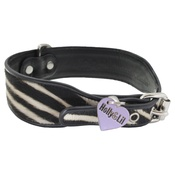Holly&Lil - Black Zebra Safari Collar