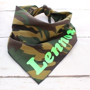 Pet Pooch Boutique - Personalised Army Soldier Dog Dog Bandana