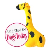 Beco Pets - George the Giraffe Squeaky Plush Dog Toy