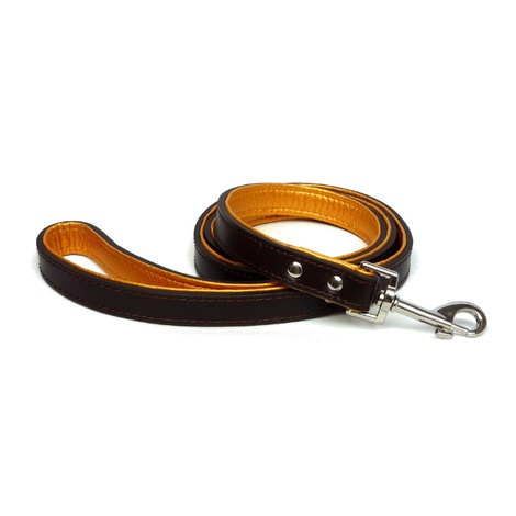 Fusion Brown Leather Dog Lead