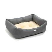 Pet Pooch Boutique - Denim Sherpa Fleece Dog Bed