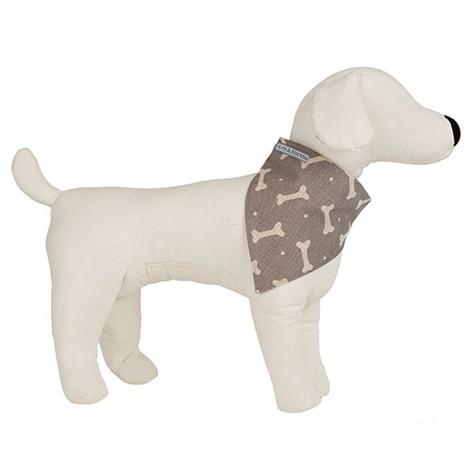 Mushroom Bone Linen Dog Neckerchief 2