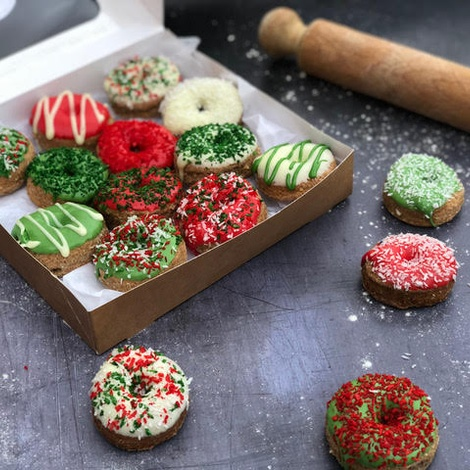 Christmas Doggy Doughnuts