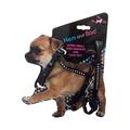 Black Diamante Dog Harness & Lead Set
