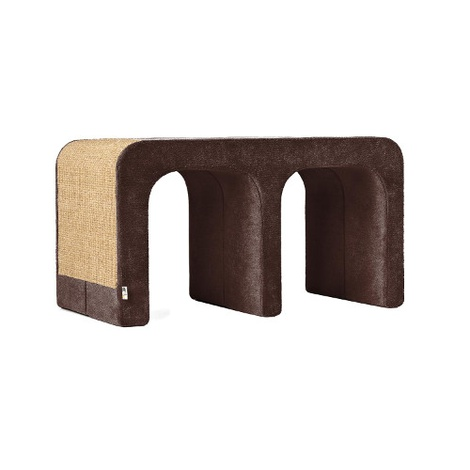 Scratching Post - Letter M - Brown