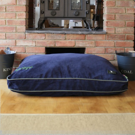 Luxury Corduroy Dog Bed – Midnight Blue