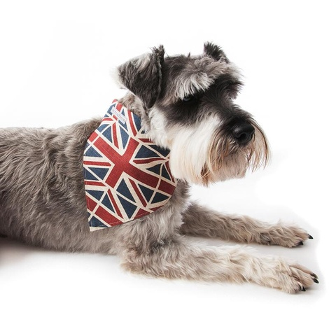 Union Jack Linen Dog Neckerchief 2