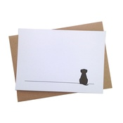 Jin Designs - Set of 12 Sitting Dog Notecards