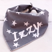 Pet Pooch Boutique - Personalised Grey Star Dog Bandana