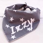 Pet Pooch Boutique - Personalised Grey Star Dog Bandana