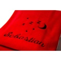 Personalised Red Snooze Pet Blanket - Italic font 2