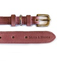 Heather Leather Dog Collar - Pastel Pink 2