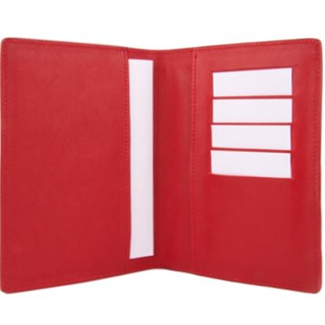 Leather Pet Passport - Deep Red