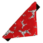 Zukie Style - Dalmatian Spotty Dog Bandana - Red