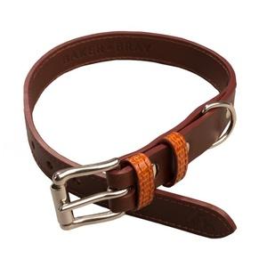 Chelsea Leather Dog Collar – Tan & Chestnut