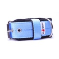 4cm width Fleece Comfort Dog Collar - Baby Blue