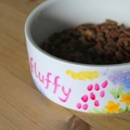 Personalised Meadow Flowers Cat Bowl 3