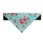 Zukie Style - Vintage Blue And Pink English Rose Bandana