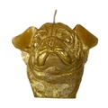 Winged Pug Candle - Gold