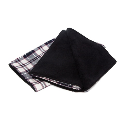McNulty Blanket - Navy and White Check 2