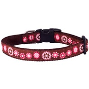 Woof and Meow - Pink Floral Dog Collar