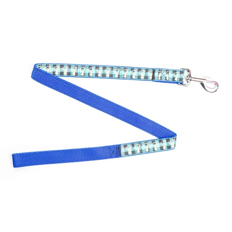 Blue Heritage Stag Dog Lead