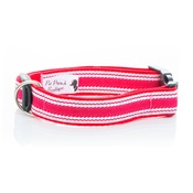 Pet Pooch Boutique - Red Breton Stripe Collar