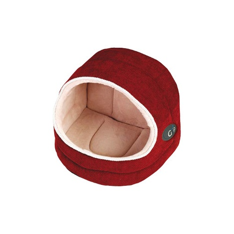 Divani Hooded Cat Bed - Coral