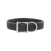 Auburn Leathercrafters - Tuscany Leather Dog Collar – Black