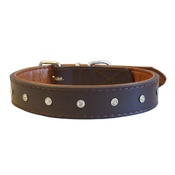 The Paws Pet Supplies - Diamante Rhinestone Dog Collar - Brown