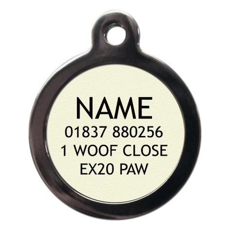 Paw Print Pet ID Tag 2