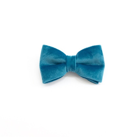 Turquoise Velvet Bowtie  2