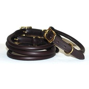 Pear Tannery - Rolled Leather Dog Collar - Brown