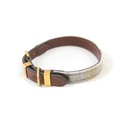 The Otis Sand Shetland Wool Leather Dog Collar
