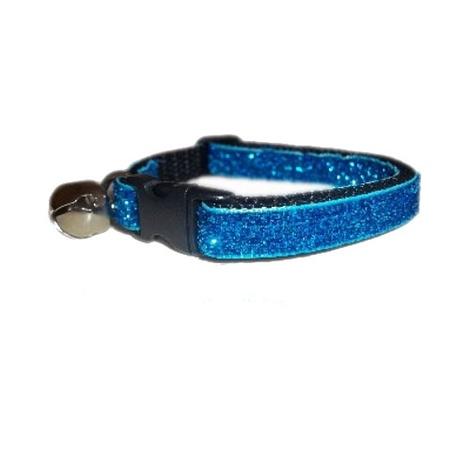 Turquoise Blue Glitter Cat Collar