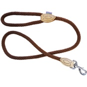 Hem & Boo - Supersoft Rope Trigger Lead - Brown