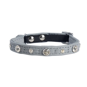 Comete Leather Cat Collar – Grey