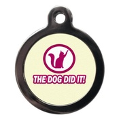 PS Pet Tags - The Dog Did It Cat Tag
