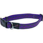 Hem & Boo - Zigzags Adjustable Dog Collar - Purple