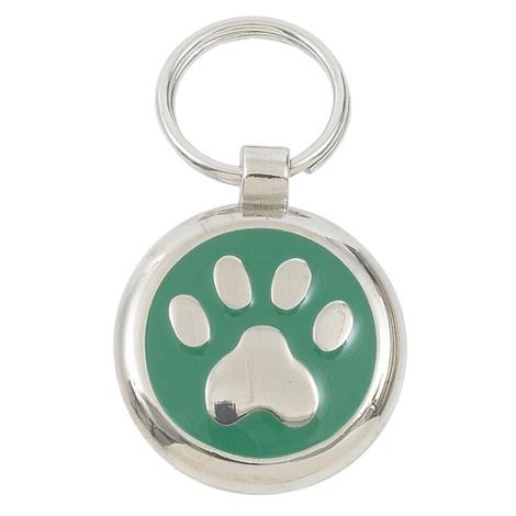 Smarties Green Paw Pet ID Tag