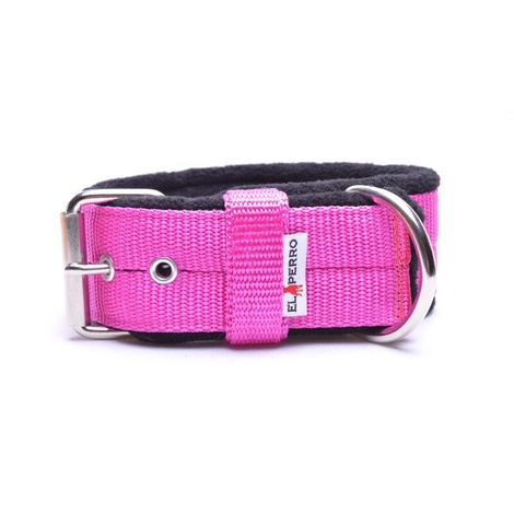4cm Width Fleece Comfort Dog Collar – Fuchsia Pink