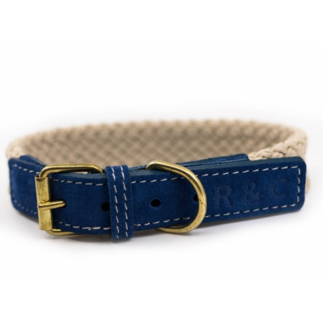 Rope collar (flat) - BLUE
