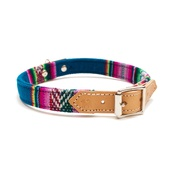Hiro + Wolf - Blue INCA Dog Collar